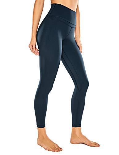 CRZ YOGA Women's Naked Feeling Workout Leggings 25 Inches - 7/8 High Waist Yoga Tight Pants True Navy Medium