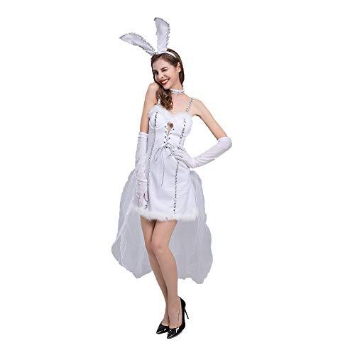 Xwenx Disfraz de conejito para mujer, disfraz de conejo, disfraz de cosplay, disfraz de Halloween, disfraz de anime, disfraz de cosplay