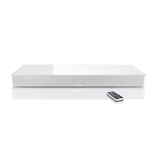 Canton 03561 DM-75 Lack seidenmatt Soundbar mit Glasplatte weiß