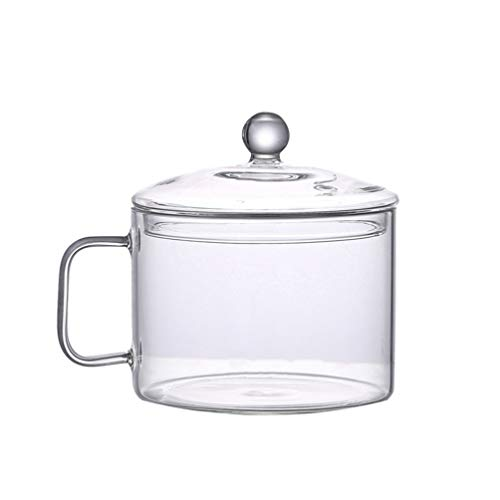 UPKOCH Clear Glass Cooking Pot Heat Resistant Stovetop Pot Cooking Saucepan Multi-Function Stew Pot for Home Kitchen Restaurant