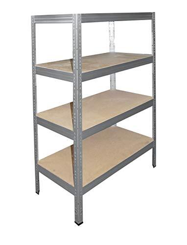 shelfplaza® PRO Estantería galvanizada 180x40x60cm / estanterías fuertes, estantería de 4 baldas, estanterías metálicas almacenaje, estantería de metal insertable, capacidad de carga de 200kg