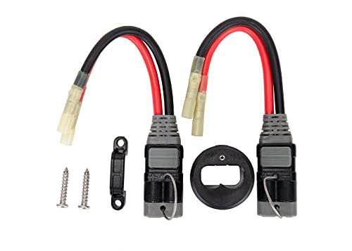 Trac Outdoors High-Current Connector Kit, 8 Gauge - Upgrade Your Trolling Motor Connectors to High-Current 12V or 24V Power - For 60 Amp 12/24/36V Power (69441)