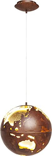 Kare Suspension design Big Bang LED Ø40 cm, lampe globe terrestre, lampe vintage, lampe industrielle, marron, (H/L/P) 120 x 40 x 40 cm