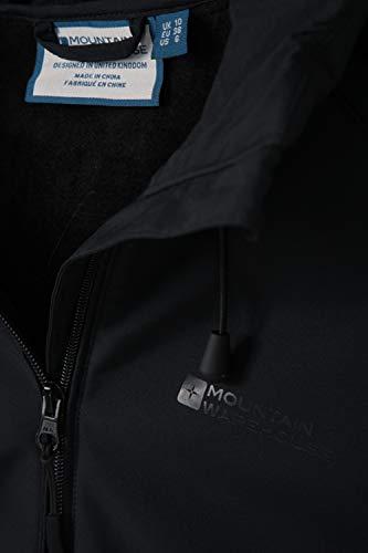Mountain Warehouse Frosty Womens Longline Softshell Jacket – Windproof Windbreaker, Water Resistant Outerwear, Fur Lined…