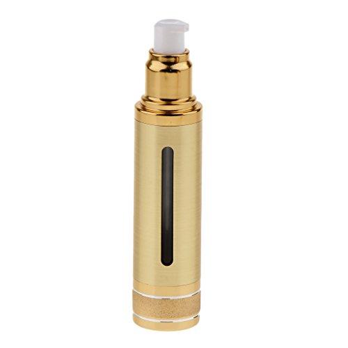 F Fityle Botella de Viaje Sin Aire de Plástico de Calidad Recargable de 30 Ml / 50 Ml de Color Dorado/Plateado - Oro, 50ml