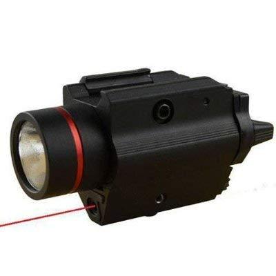 GOTICAL Tactical Flashlight Q5 Cree, 150 Lumens W/Red Laser Sight Heavy Duty