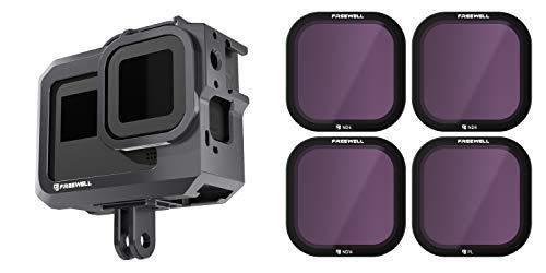 Freewell Standard Day - 4K Serie - 4Pack ND4, ND8, ND16, PL Filter/Metall Schutzkäfig kompatibel mit Hero8 Black