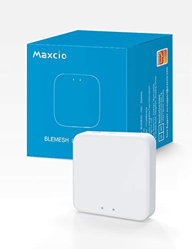 Maxcio SIG MESH WiFi Gateway, Smart Home Bridge über Tuya/Smart Life APP steuern, Smart Gateway für Mesh Bluetooth LED Strip und Thermostat, MAX-HUB-01