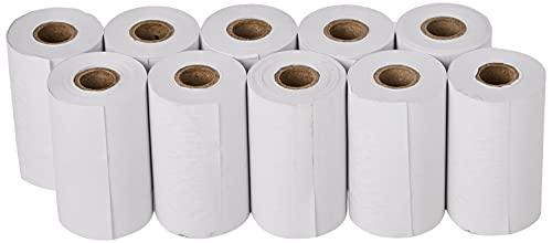 OFITURIA  50 Rollos Papel Térmico 57x35x12 mm para Sumadora Impresora TPV, Sin Bisphenol A