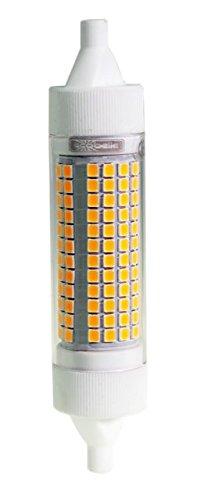 ECOBELLE® 1 x 20W R7s LED Leuchtmittel Lampe *HYPERNOVA*, 2500 Lumen (Hohe Lumen Lampe!!!), warm-weiß 3000K, 118 mm x 25 mm, 360° mit Gehäuse aus Keramik für bessere Kühlung