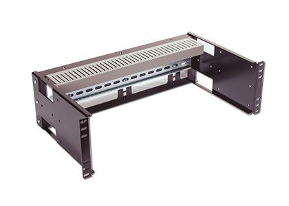 RCB1111BK15 3U Rackmount Adjustable Depth DIN Rail Panel for Industrial Standard 19 inch 2-Post Relay Rack or 4-Post Server Rack