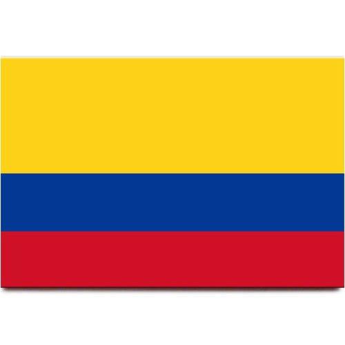 Kühlschrankmagnet mit Kolumbien-Flagge, Bogota, Reise-Souvenir