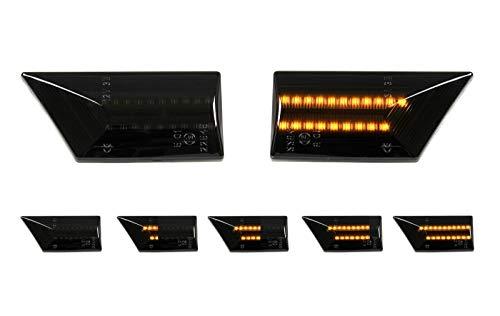 AUTOLIGHT 24 Dynamische LED Seitenblinker Smoke Schwarz Dunkel Blinker für Vectra C Signum SB38