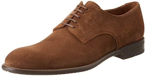 Lottusse L6870, Zapatos de Cordones Derby Hombre, Marrón (Camoscio Marron Camoscio Marron), 44 EU