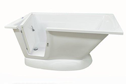 Opal Senioren Badewanne mit Tür, 150x76x70, Sitzbadewanne Links