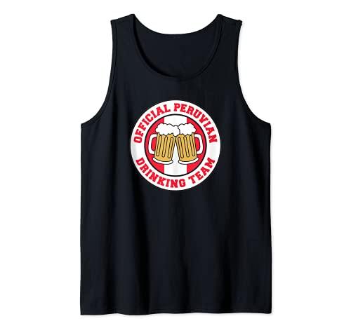 Bandera oficial del equipo peruano de beber de la cerveza de Perú divertida Camiseta sin Mangas