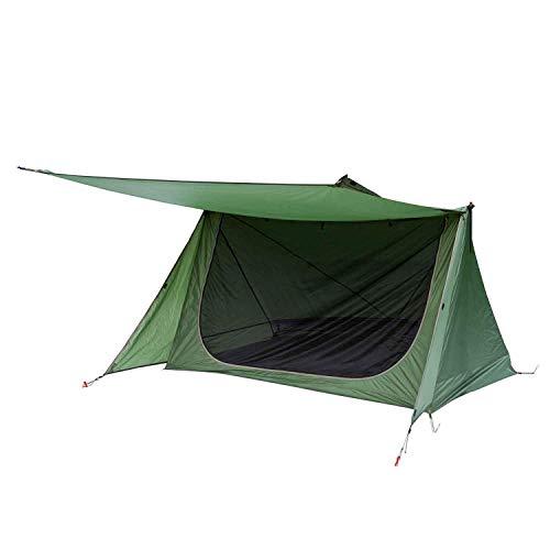 OneTigris Zelt für 1 - 2 Personen Backwoods Bungalow 2,0 Camping Zelt leichtes Wurfzelt Wasserdicht 4 Jahreszeit Bushcraft Shelter Zelt für Wandern Outdoor|MEHRWEG Verpackung (Armee Grün)
