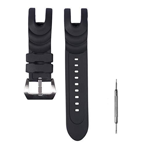 Caca para Invicta Reloj de Goma Banda/Correa con Hebilla de Acero Inoxidable de Invicta Reserva colección Venom–Negro Invicta Reloj Bandas