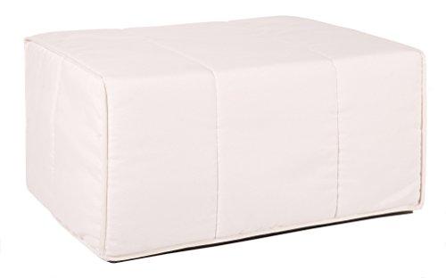 Quality Mobles Cama Plegable Individual de 80x180 cm Color Natural, Somier metalico con Lamas de Madera. Colchon de Espuma y Funda Textil, 83 cm