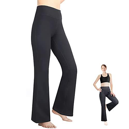 RINOZO Jogginghose Damen Sporthose Bootcut Freizeithose Slim Fit Lang mit Versteckten Taschen Trainingshose Fitness Yogahose