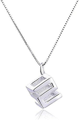 ZPPYMXGZ Co.,ltd Collar Moda Pareja Collar joyería Personalidad 520 Cubos de Amor Colgante Collar Regalo