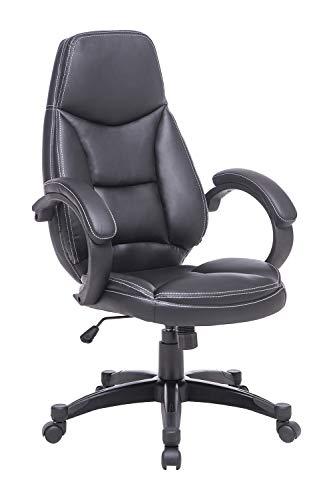 Rottnen Modern PU Ergonomic Office Chair Black Cheap Desk Chair 360°Swivel Computer Chair High Back Executive Chair with Lumbar Support Comfy Chair