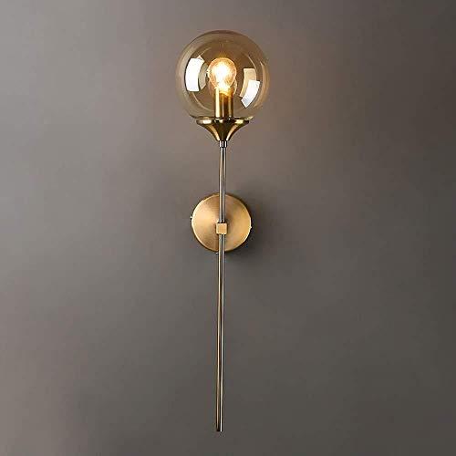Eclairage mural Mur de lumière lumineuse Salon Creative personnalité Chambre Lampe de chevet Lampe boule Aisle Couloir contre Leisure Club Contexte lampe mur (Color : Amber)