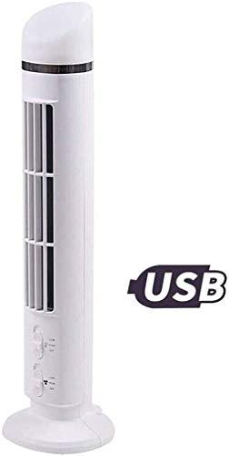 USB portátil ventilador de la torre ventilador del escritorio con iluminación, 2 en 1 mini silencioso multifunción Torre ventilador sin aspas del ventilador de aire de circulación 2 velocidad del vent