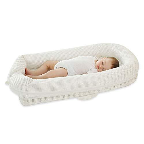 AXIANQI Ledikant pasgeboren wieg slaap artefact bed wieg matras geschikt voor 0-8 maanden baby 74cm*46cm*14cm 90 * 50 * 16cm Kleur: wit
