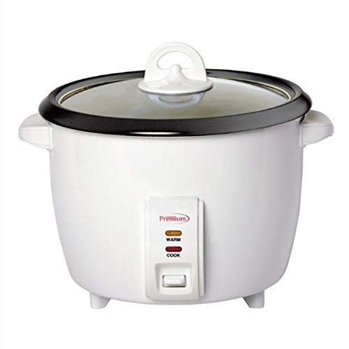 Premium PRC1846 10 Cup Deluxe Rice Cooker, Silver