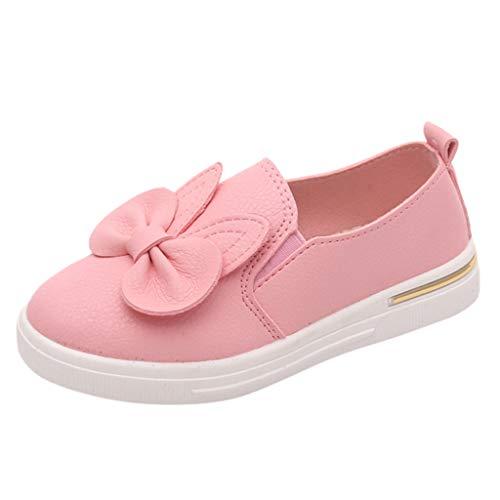 YWLINK Zapatos NiñAs NiñOs Dibujos Animados Arco Orejas De Conejo Solo Zapatos Princesa Zapatos Zapatillas Casuales Zapatos Mujer Baile CóModo Antideslizante Regalo del DíA De Miembro(Rosado,30EU)