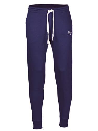 Rucanor Senna - Pantaloni da jogging da uomo, slim fit, pantaloni da jogging, Urban Classic, per lo sport e il tempo libero Blu XXL