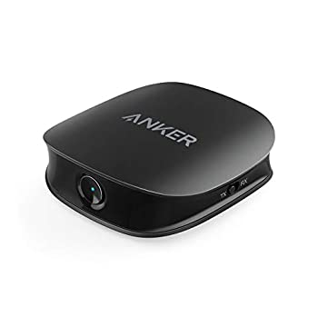 Anker Soundsync A3341 Bluetooth 2-in-1 Transmitter and Receiver with Bluetooth 5 HD Audio with Lag-Free Synchronization and AUX/RCA/Optical Connection for TV and Home Stereo System