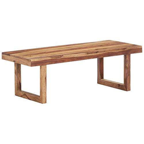 vidaXL Sheesham-Holz Massiv Couchtisch Beistelltisch Wohnzimmertisch Kaffeetisch Sofatisch Teetisch Holztisch Tisch Palisander 100x50x35cm