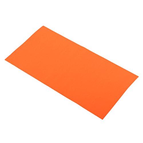 Homyl Selbstklebender Reparatur Aufkleber elastisch Flicken für Regenjacke, Zelt, 20x10cm - Orange