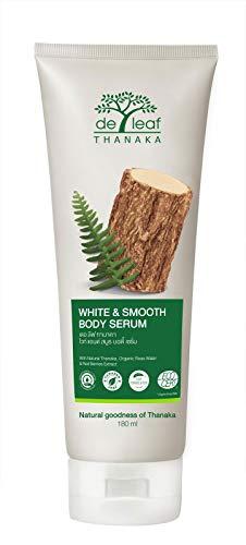 DE LEAF THANAKA White and Smooth Body Serum, Paraben Free Moisturizing Hydrating Lotion Cream Natural Non Greasy Lightweight Hand for Women Men Unisex, 180 ml / 6.9 fl oz
