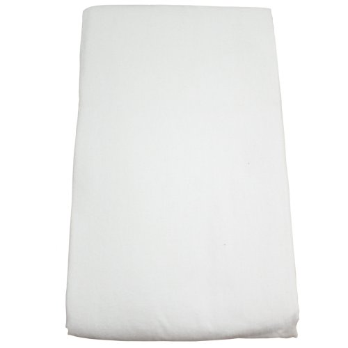 Body Linen Flannel Fitted Massage Sheet, White