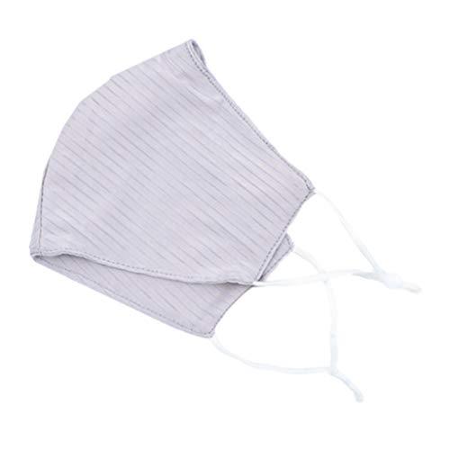 Losping Gesichtsmaske für Erwachsene für den Sommer, einfarbig, gestreift, winddicht, waschbar, schützt vor Staub und Schmutz