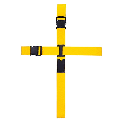 BlueCosto Cruz Correas para Equipaje Maleta Accessorios de Viaje Largo Luggage Strap - Amarillo