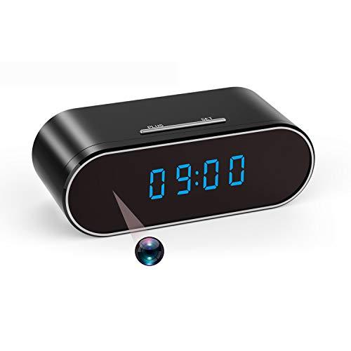 Hidden Spy Camera Orologio Wireless WiFi Telecamere nascoste HD 1080P Nanny Cam per Monitor di Sicurezza Casa Videoregistratore 140 Angoli Visione Notturna Rilevamento Movimento (Versione aggiornata)
