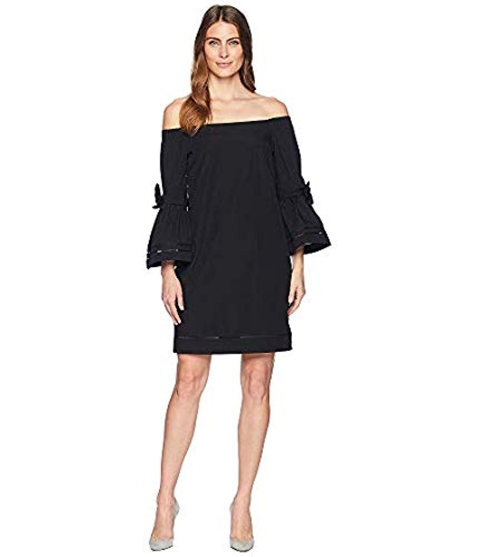 [LAUREN Ralph Lauren(ローレンラルフローレン)] レディースウェア?ジャケット等 Poplin Off the Shoulder Shift Dress Polo Black US 10 (XL) [並行輸入品]