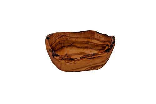 Rustikale Seifenschale Seifenhalter Seifenablage aus echtem Olivenholz Dekorativ für das Bad ca. 14 x 9 x 7 cm
