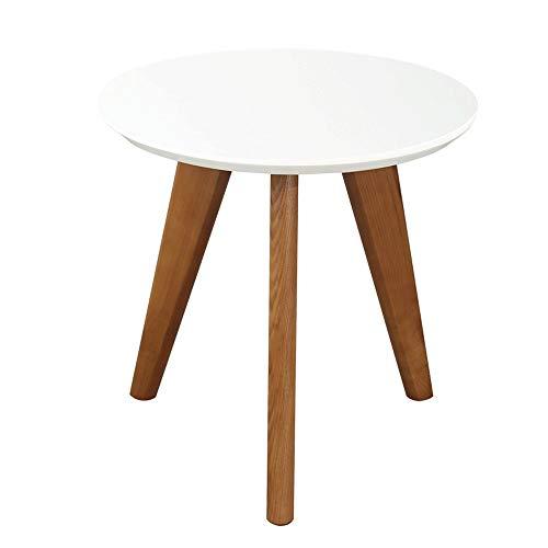 JIA Xing Mesa de café, Creativo sólido de Madera Redonda de la Tabla Sala de Estar Mesa Lateral Simple y fácil de Limpiar pequeña Mesa de Centro (2 tamaños) Mesa de Centro (Size : B)