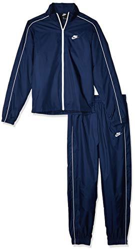 Nike Herren M NSW CE TRK Suit WVN Basic Tracksuit, Midnight Navy/White, M