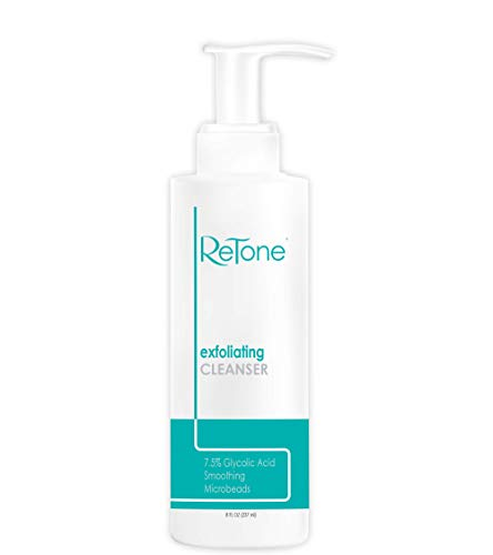 ReTone Keratosis Pilaris Exfoliating Body Cleanser Wash for KP treatment, Body Acne - Gentle Glycolic acid wash to exfoliate and soften rough, bumpy skin. (KP Wash)