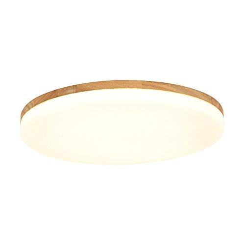 Plafondlamp, 15 W, hout, dikte 5 cm, eiken, plafondlamp, LED, rond, hout, plafond, licht, houten lamp, plafond voor kamerlamp, slaapkamer, lamp, keukenverlichting, binnen, gang, verlichting, 27 x 5 cm, energieklasse A
