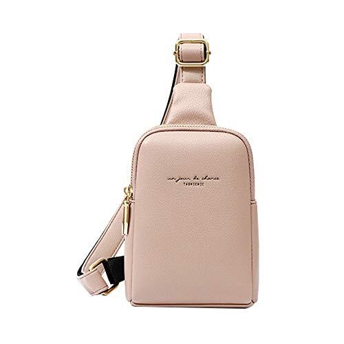 Aomiduo Damen Kleine Umhängetasche Handy Geldbörse Handtasche Kreditkartenhalter Brieftasche Mini Rucksack PU Leder Brusttasche, Geschenke für Mädchen, Rosa