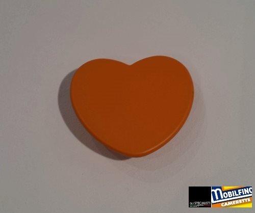 Poignée Coeur Orange ↔ 32 mm Chambre Armoire Design Orange Heart Handle mobilfino