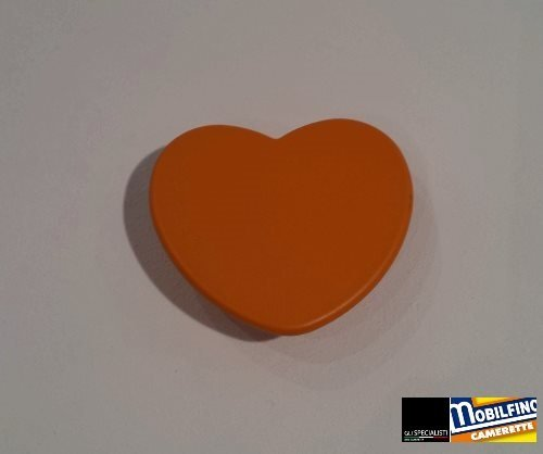 Poignée Coeur Orange ↔ 32 mm Chambre Armoire Design Orange Heart Handle mobilfino