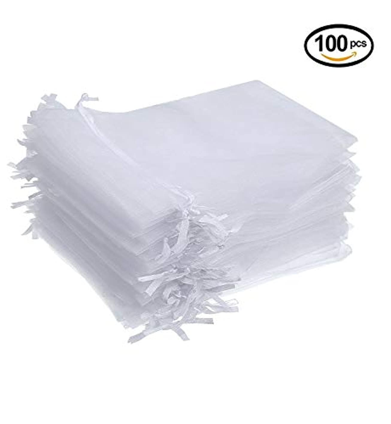 4 x 6 Inches 100 Pack White Organza Gift Bags Wedding Party Favor Bags Jewelry Pouches Wrap (100pcs White 4 x 6 Inches) prfhaqdwwmu084
